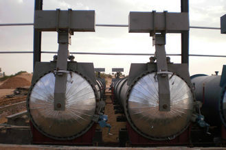 China Saturated Steam Chemical Concrete Autoclave Φ3m For Wood / Brick / Rubber / Food factory