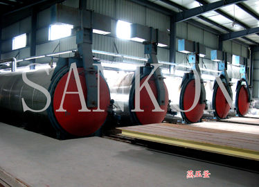 China Autoclaved Aerated Concrete?plant AAC autoclave equipment also used in chemical / textile industry factory